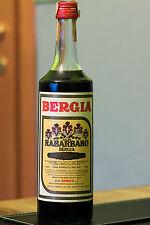 Bitter herbs RABARBARO BERGIA Vintage 18% 1L