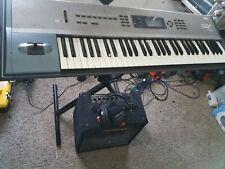 KORG N364 Music Workstation 61 Key Keyboard Synthesize exellent!!with hard case!