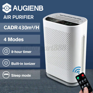 AUGIENB Air Purifier 5 Layers HEPA Filter Cleaner Odor Dust Remover Deodoriser