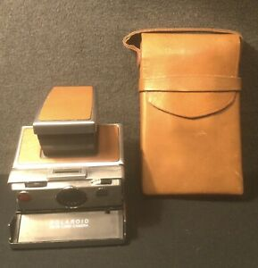 Vintage Polaroid SX-70 Land Camera + Carrying Case - As Is - Untested.