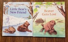 Little Animal Adventures - Lot of 2 Hardcover Books - Beaver & Little Bear