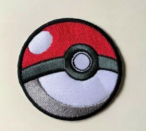 Pokemon Pokeball game cartoon- Iron on  Sew on Embroidered- Patch