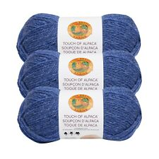 Lion Brand Yarn 674-109 Touch of Alpaca Yarn, Blue (Pack of 3 skeins)