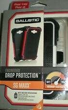 Ballistic SG Maxx Case w Screen Protector & Holster for iPhone 4/4s, Black/White