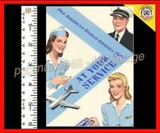 PAN AM AIRWAYS 1945 AIRLINE BROCHURE...At Your Service..Boeing 307 Stratoliner