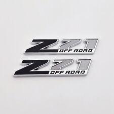 2pcs Z71 Off Road Decal Emblem Badge Black/Silver 3D Metal Sticker Truck Pickup