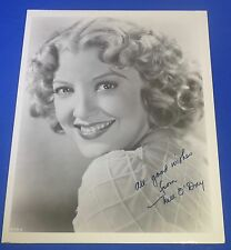 NELL O'DAY deceased 1989 signed autographed 8 x10  actress