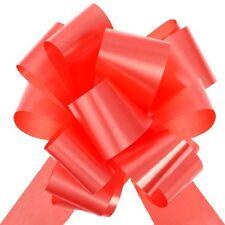 10 Grands noeuds automatique uni Rouge