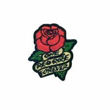One Red Rose Flower Forever (Iron On) Embroidery Applique Patch Sew Iron Badge