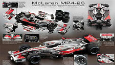 DEAGOSTINI BUILD THE McLAREN MP4/23 BIG 1:8 SCALE COMPLETE NEW MODEL KIT F1 2008