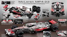 DEAGOSTINI BUILD THE McLAREN MP4/23 BIG 1:8 SCALE COMPLETE NEW MODEL KIT F1 2008