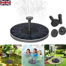 Solar Fountain Floating Garden Bird Bath Fish Tank Aquarium Water Feature UK