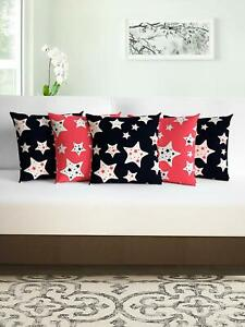 Set of 5 MicroPolyester Abstract Pattern Cushion Covers (16X16Inch)-Multicolour