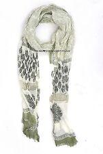 Indian Dupatta Hand Block Print Neck Wrap Chiffon Long Stole Chunni Scarves Wrap