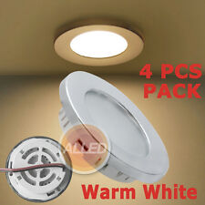 4*12V Warm White LED Recessed Down Light Chrome Plated Super Bright Caravan Lamp