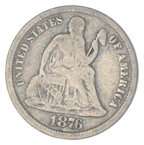 Historic 1876 Seated Liberty Dime *898