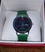 """MIXIT Green band silver tone """"Son of a Nutcracker"""" Novelty Watch JCpennys NEW!"""