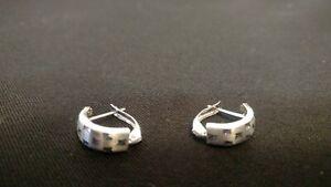 Earrings White Gold 585 Shiny 14 Carat