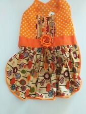 Pet dress skirt puppy clothes cat dress dog dress orange color