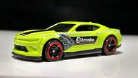HOT WHEELS 2018 CAMARO SS LIME GREEN BREMBO RACING TINT WINDOWS NICE