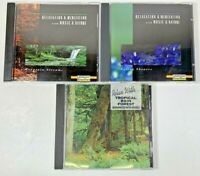 Lot of 3 Relaxation & Mediation w/ Music & Nature CD's-Stream, Showers, Tropical