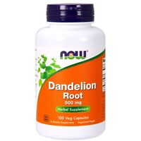 NOW Foods Dandelion Root, 500 mg, 100 Veg Capsules