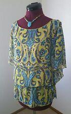Apt. 9 Ladies Size M Paisley Print Sheer Split Sleeve Top with Cami Hippie Boho