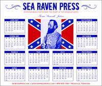 "Thomas ""Stonewall"" Jackson 2020 Wall Calendar - from Sea Raven Press"