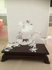 Swarovski crystal dragon with display & box