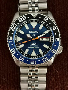SEIKO DIVER 7S26-0020 SKX007 STUNNING BLUE AIRDIVER PROSPEX AUTOMATIC WATCH 4825
