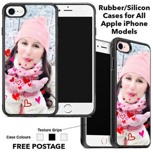 Personalised Any Photo Printed Rubber Phone Case For Apple iPhone