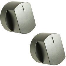 2x PLATA botón giratorio para Horno Interruptor para Stoves 444445107 444445108