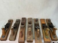 "Lot of 7 Different Vintage Wood Plane - Stanley Rule & Level Co. ""15/ 18"""