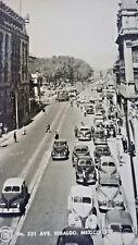1940/50s Photo Postcard - HIDALGO AVE Street Scene RPPC Mexico City