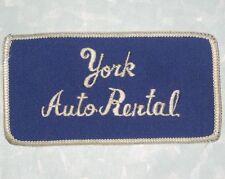 """York Auto Rental Patch - 3 7/8"""" x 2 1/8"""""""