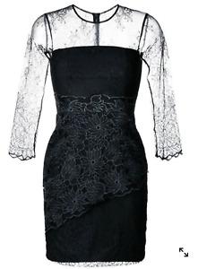 New Three Floors Desire Dress Black Lace Party Dress Size 4 - 8