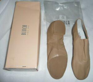 Bloch Dance Womens Super Jazz soft Split Sole Leather Jazz Shoes Size 5 1/2 Tan