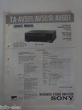 Schema SONY - Service Manual Integrated Stereo Amplifier TA-AV501 AV501R AV601