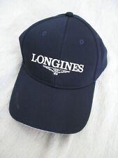 Longines authentic blue white ribbed logo baseball cap hat nwot new