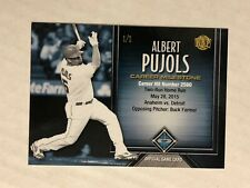 ALBERT PUJOLS 2017 Honus Bonus Milestone RARE SP PARALLEL 1/1! CHECK MY ITEMS!