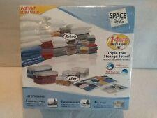 New SPACE BAG 14 Bag Set Vacuum Seal Airtight Waterproof Space Saver Bags