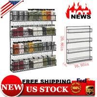 Clips Spice Gripper Bottles Jar Rack Holder Door Wall Organiser Storage Tool 4T
