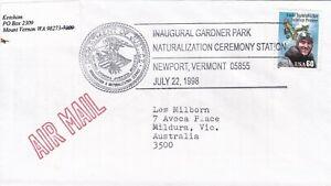 USAP071) Cover USA 1998, Inaugural Gardner Park Naturalization Ceremony Station,