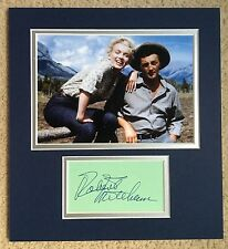 ROBERT MITCHUM SIGNED DISPLAY RIVER OF NO RETURN MARILYN MONROE - UACC AUTOGRAPH