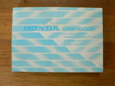 HONDA CBR1000F 1985 OWNERS MANUAL  MOTORCYCLE MOTORRAD INSTRUCTIE BOEKJE