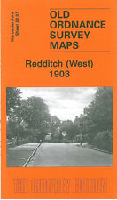 OLD ORDNANCE SURVEY MAP REDDITCH WEST 1903