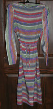 Lanvin Classic Multicolor Belted Dress - Size 10 Simply Elegant - Vintage w/ Tag