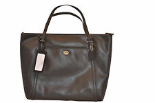 COACH PEYTON XL Black Leather Tote Diaper Bag Weekender Cross Body F77606 NWT