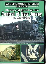 Steam and Diesel on the Central of New Jersey in the 1950s DVD CNJ Camelbacks