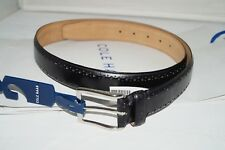 NWT Authentic COLE HAAN Black 32MM Black Leather Men's Belt Size 38/95